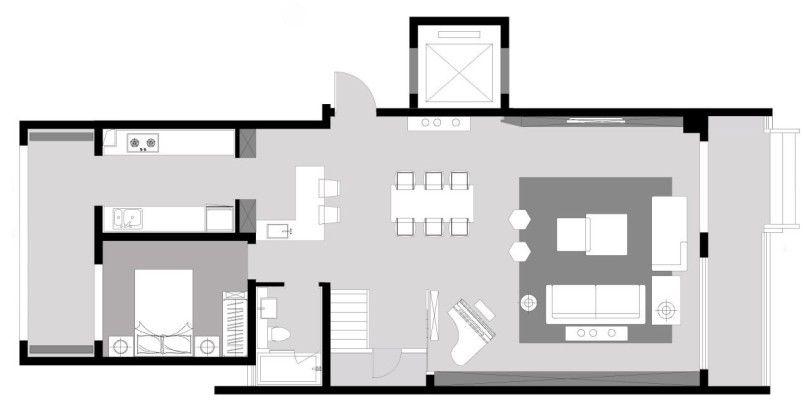 精美270平簡約四居客廳裝修圖