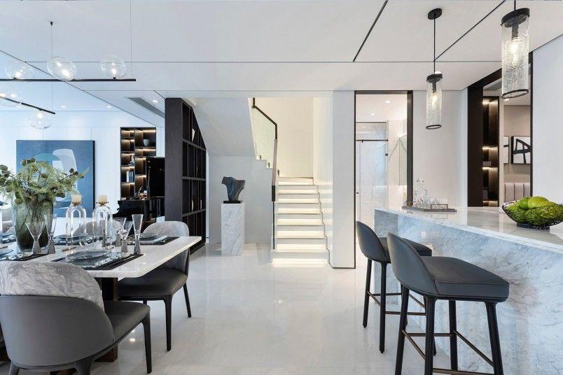 現代簡約風格270平米別墅裝飾效果圖